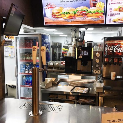 Mobile Bar Installed At Burger King Fiji