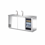 Chiller Keg Fridge 3 Door, Stainless Steel
