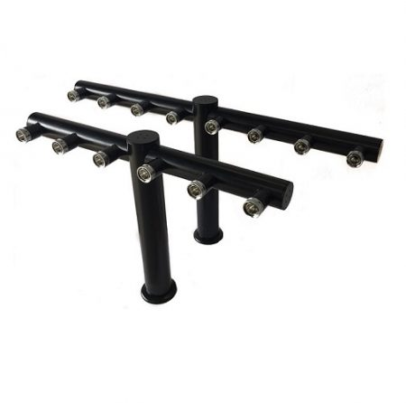 6/8-Way T-Bar (Powder Coated Black)