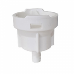 Cleaning Cup (Bypass) Plastic White D/S-Type Barb
