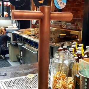 2-Way T-Bar Tower Custom Coated In Copper, Fatima's, Commercial Bay, Auckland